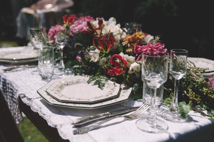 ślubne dekoracje stołu