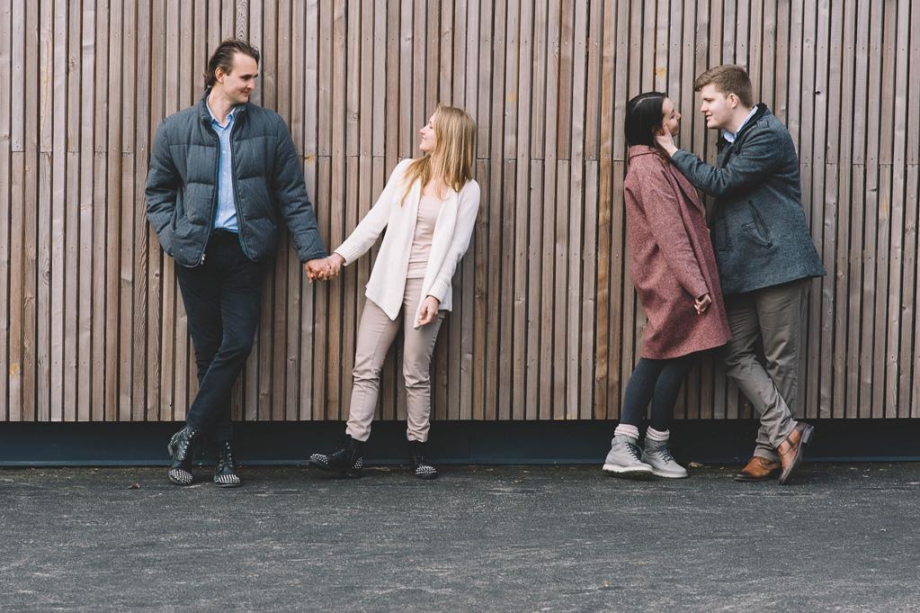 sesja zdjęciowa z przyjaciółmi