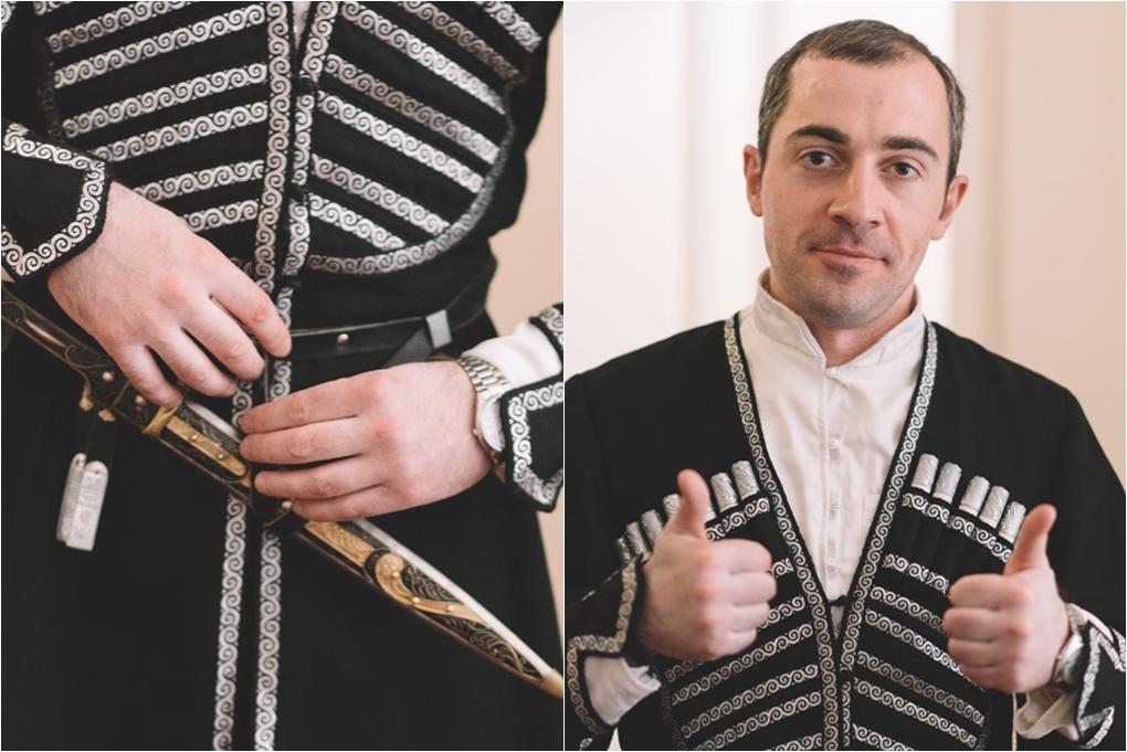 tradycyjny gruziński strój