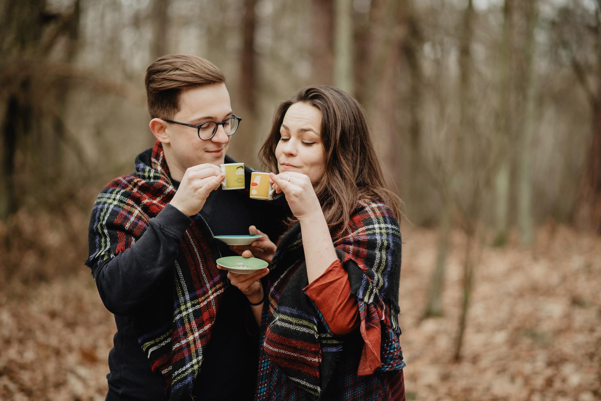 pijemy kawę w lesie 9